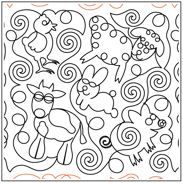 Baby-Animals-quilting-pantograph-pattern-Deb-Geissler