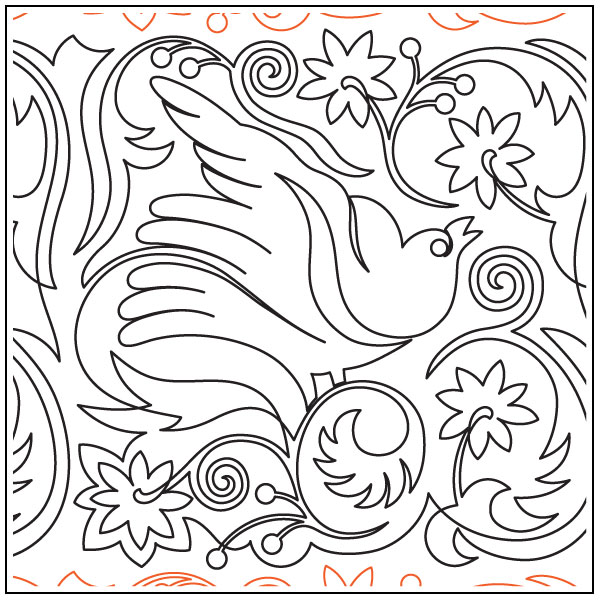 Bird-In-The-Garden-1-quilting-pantograph-pattern-Deb-Geissler