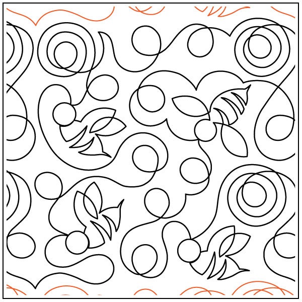 Buzzing-Around-quilting-pantograph-pattern-Deb-Geissler