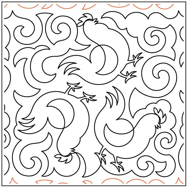 Chicken-Swirls-quilting-pantograph-pattern-Deb-Geissler