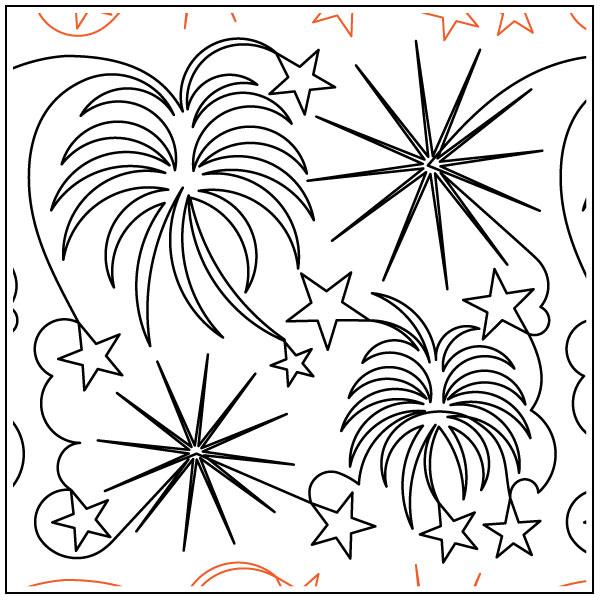 Debs-Fireworks-quilting-pantograph-pattern-Deb-Geissler