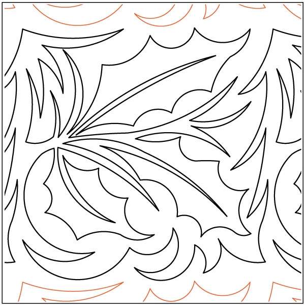 Holly-Leaves-quilting-pantograph-pattern-Deb-Geissler
