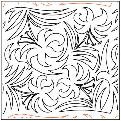 Day-Lily-quilting-pantograph-pattern-Deb-Geissler