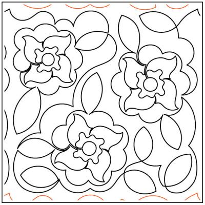 Debs-Flowers-quilting-pantograph-pattern-Deb-Geissler