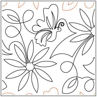 Debs-Sunflower-quilting-pantograph-pattern-Deb-Geissler
