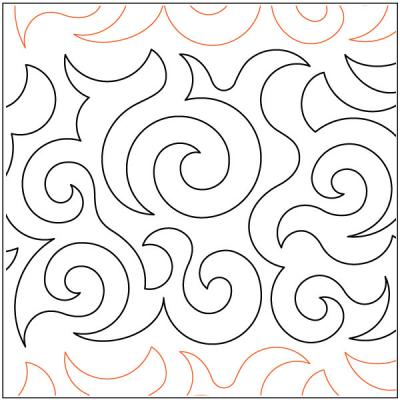 Debs Swirls quilting pantograph pattern by Deb Geissler