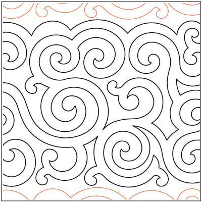Irish-Swirls-quilting-pantograph-pattern-Deb-Geissler