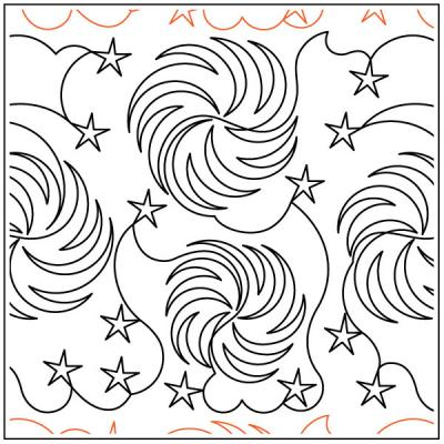 Spinning-On-A-Star-quilting-pantograph-pattern-Deb-Geissler