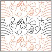 Beehive-Border-quilting-pantograph-pattern-Deb-Geissler