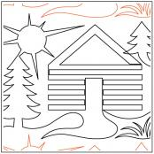 Cabin-In-The-Woods-quilting-pantograph-pattern-Deb-Geissler