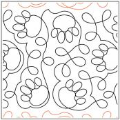 INVENTORY REDUCTION...Paws quilting pantograph pattern by Deb Geissler