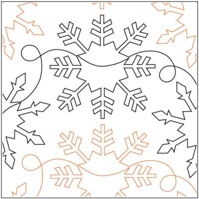 Snowflakes quilting pantograph sewing pattern by Denise Schillinger