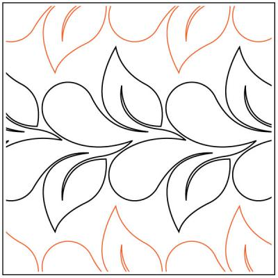 Flirty Feathers and Leaves quilting pantograph pattern by Jessica Schick