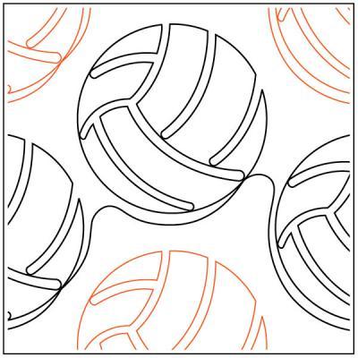 Modern-Volleyball-quilting-pantograph-pattern-Jessica-Schick-1