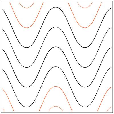 Sound Wave quilting pantograph pattern by Jessica Schick