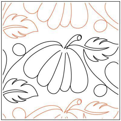 Jessica's Pumpkin Patch quilting pantograph pattern by Jessica Schick