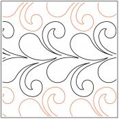 Flirty Feathers and Curls quilting pantograph pattern by Jessica Schick 1