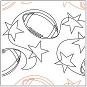 INVENTORY REDUCTION...Football Stars quilting pantograph pattern by Jessica Schick