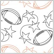 Football Stars quilting pantograph pattern by Jessica Schick 2
