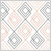 Jessica's Argyle quilting pantograph sewing pattern by Jessica Schick