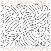 INVENTORY REDUCTION...Jungle Cover quilting pantograph sewing pattern by Jessica Schick