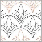 Spiky-Leaves-Clamshell-quilting-pantograph-pattern-Jessica-Schick
