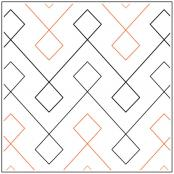 Square Dance quilting pantograph sewing pattern by Jessica Schick