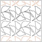 INVENTORY REDUCTION...Wavy Leaves Petite quilting pantograph sewing pattern by Jessica Schick
