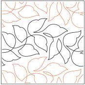 INVENTORY REDUCTION...Wavy Leaves quilting pantograph sewing pattern by Jessica Schick