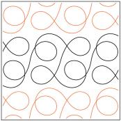 INVENTORY REDUCTION...Wire Wrap quilting pantograph sewing pattern by Jessica Schick