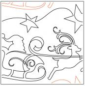 Sleigh Ride quilting pantograph sewing pattern by Jessica Schick