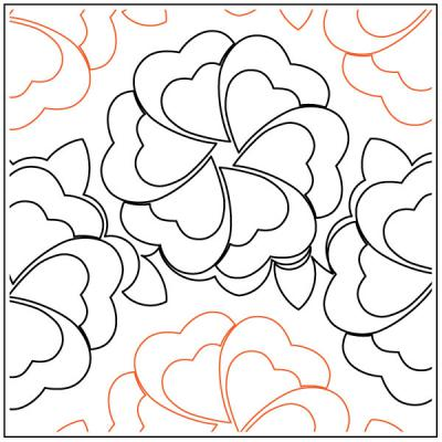 Flower-Bed-quilting-pantograph-pattern-Keryn-Emmerson