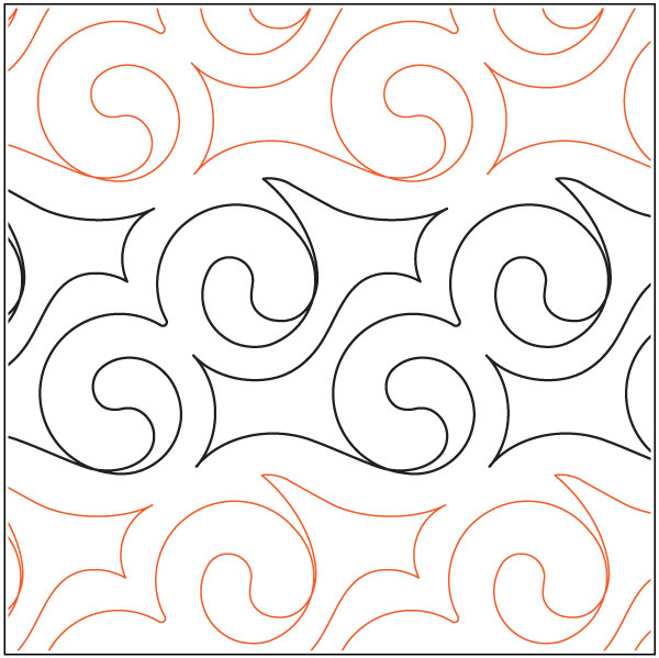 Celitc-Scroll-quilting-pantograph-pattern-Keryn-Emmerson