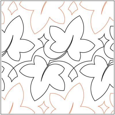 Fall quilting pantograph pattern by Keryn Emmerson