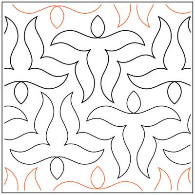 Keryn's Butterfly quilting pantograph sewing pattern by Keryn Emmerson