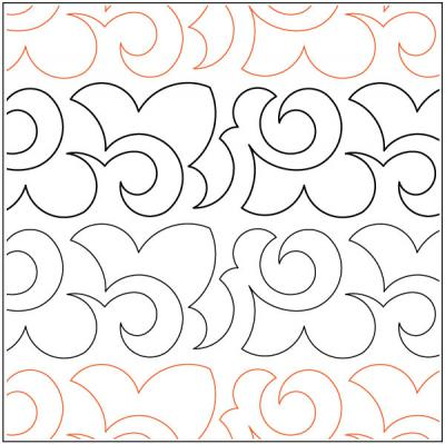 Sedum quilting pantograph pattern by Keryn Emmerson