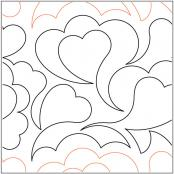 Cloud of Hearts quilting pantograph pattern by Keryn Emmerson