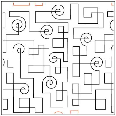 Circuit Path quilting pantograph sewing pattern from Kristin Hoftyzer