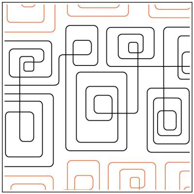 Geometric Path #1 quilting pantograph sewing pattern from Kristin Hoftyzer