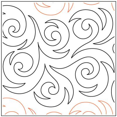 Hurricane quilting pantograph sewing pattern from Kristin Hoftyzer