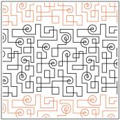 Circuit Path quilting pantograph sewing pattern from Kristin Hoftyzer 1