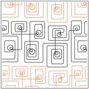 Geometric Path #1 quilting pantograph sewing pattern from Kristin Hoftyzer 1