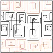Geometric Path #2 quilting pantograph sewing pattern from Kristin Hoftyzer 1