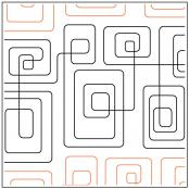 Geometric Path #2 quilting pantograph sewing pattern from Kristin Hoftyzer