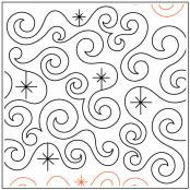 Midnight Sparkle quilting pantograph sewing pattern from Kristin Hoftyzer
