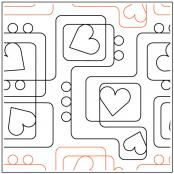 Path To My Heart quilting pantograph sewing pattern from Kristin Hoftyzer