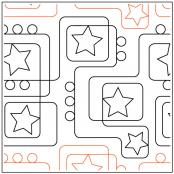 Path To The Stars quilting pantograph sewing pattern from Kristin Hoftyzer