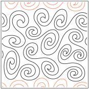 Saturn Swirls quilting pantograph sewing pattern from Kristin Hoftyzer