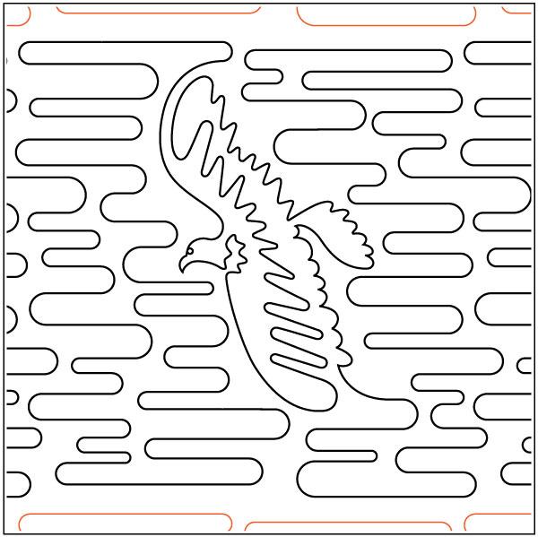 Bald-Eagle-quilting-pantograph-sewing-pattern-Laura-Estes-1