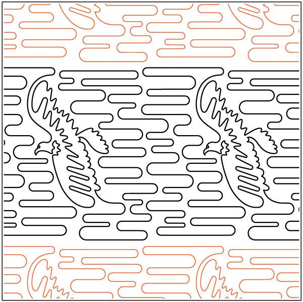 Bald-Eagle-quilting-pantograph-sewing-pattern-Laura-Estes-2